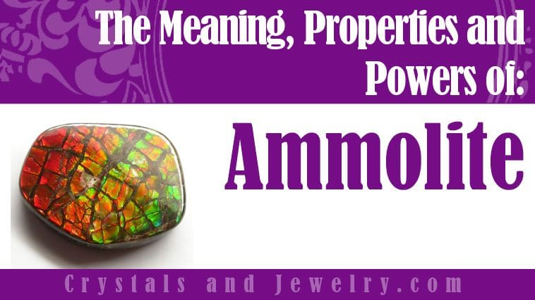 Ammolite jewelry
