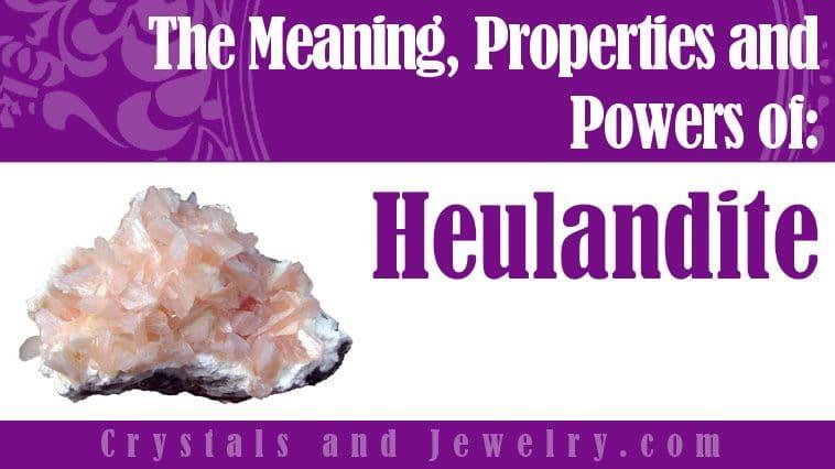 Heulandite jewelry