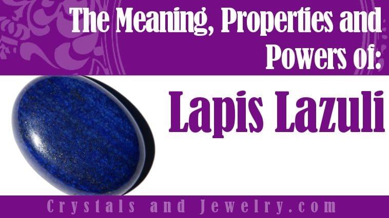 Lapis Lazuli is powerful