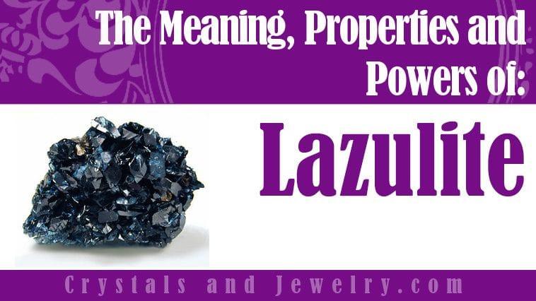 Lazulite jewelry
