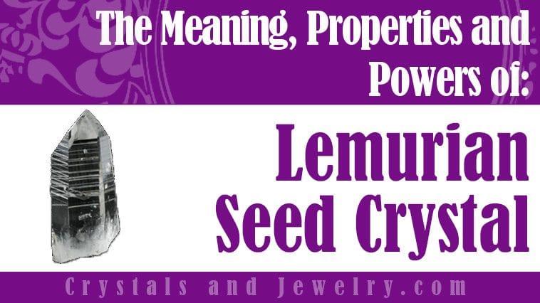 Lemurian Seed Crystal for love