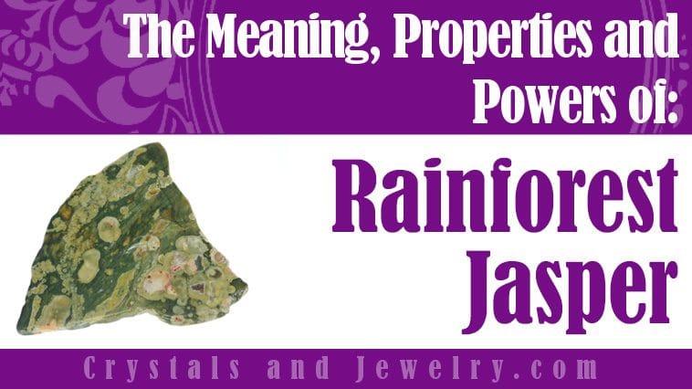 Rainforest Jasper for love