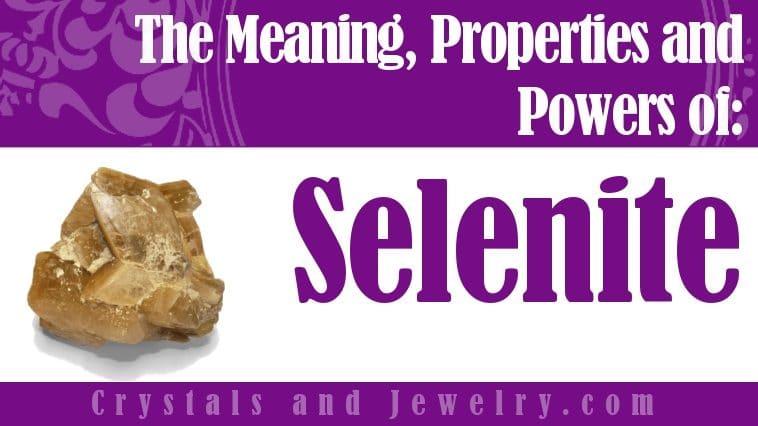 Selenite is powerful