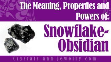 Snowflake Obsidian jewelry
