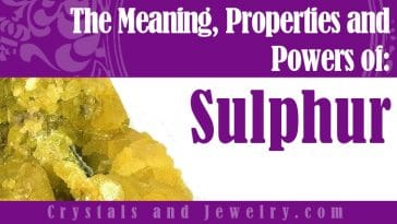Sulphur for luck and wealth