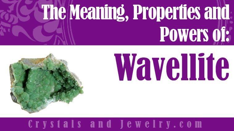 Wavellite jewelry