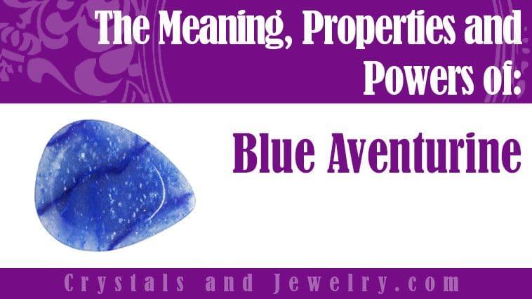 blue aventurine meaning