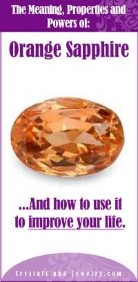 orange sapphire meaning