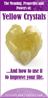 yellow crystals meaning