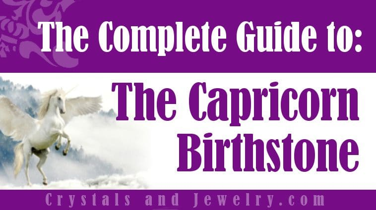 Capricorn Birthstone for luck and wealth