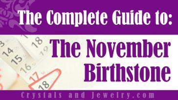 November Birthstone for protection