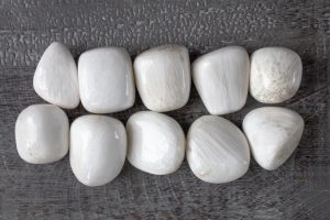 White Scolecite beads