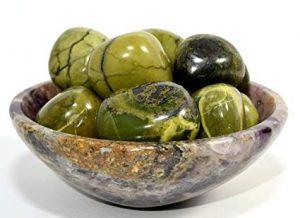Serpentine stone beads