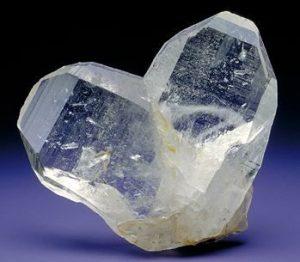 A Beautiful Twin Quartz Crystal Stone