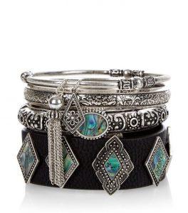 Charming abalone stone on a bracelet