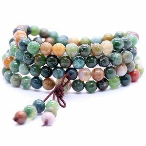Colorful agate stones bracelet