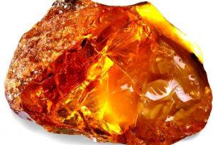Amazing shiny amber stone