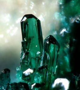 Delicate pieces of Atacamite stone
