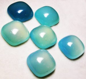 Refined examples of Blue Chalcedony stone