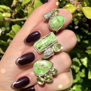 Gaspeite stone jewelry