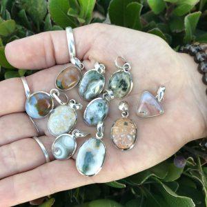 Beautiful Ocean Jasper pendants