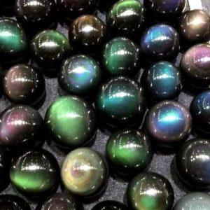 Lovely Rainbow Obsidian beads